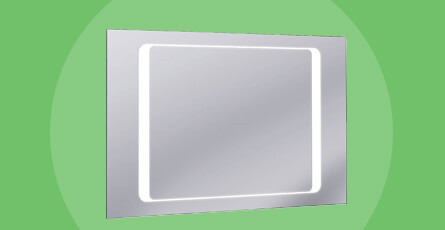 mirror with demister
