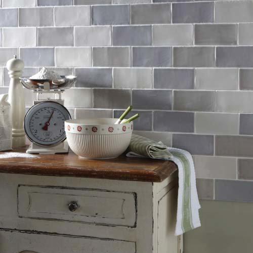 French Artisan Grey Gloss Tiles