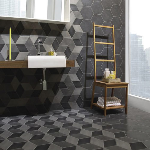 Geometric Bathroom Tiles