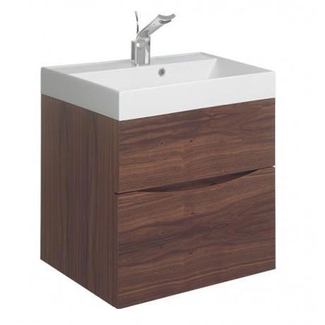 Bauhaus - Glide II Vanity Unit and Basin - American Walnut - 3 size options