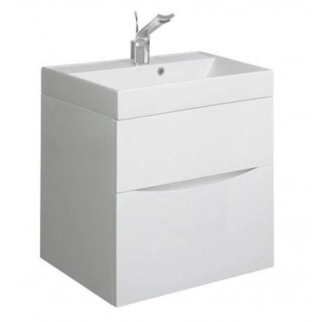 Bauhaus - Glide II Vanity Unit and Basin - White Gloss - 3 size options