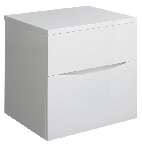Bauhaus - Glide II Unit and Worktop - White Gloss - 3 size options Large Image