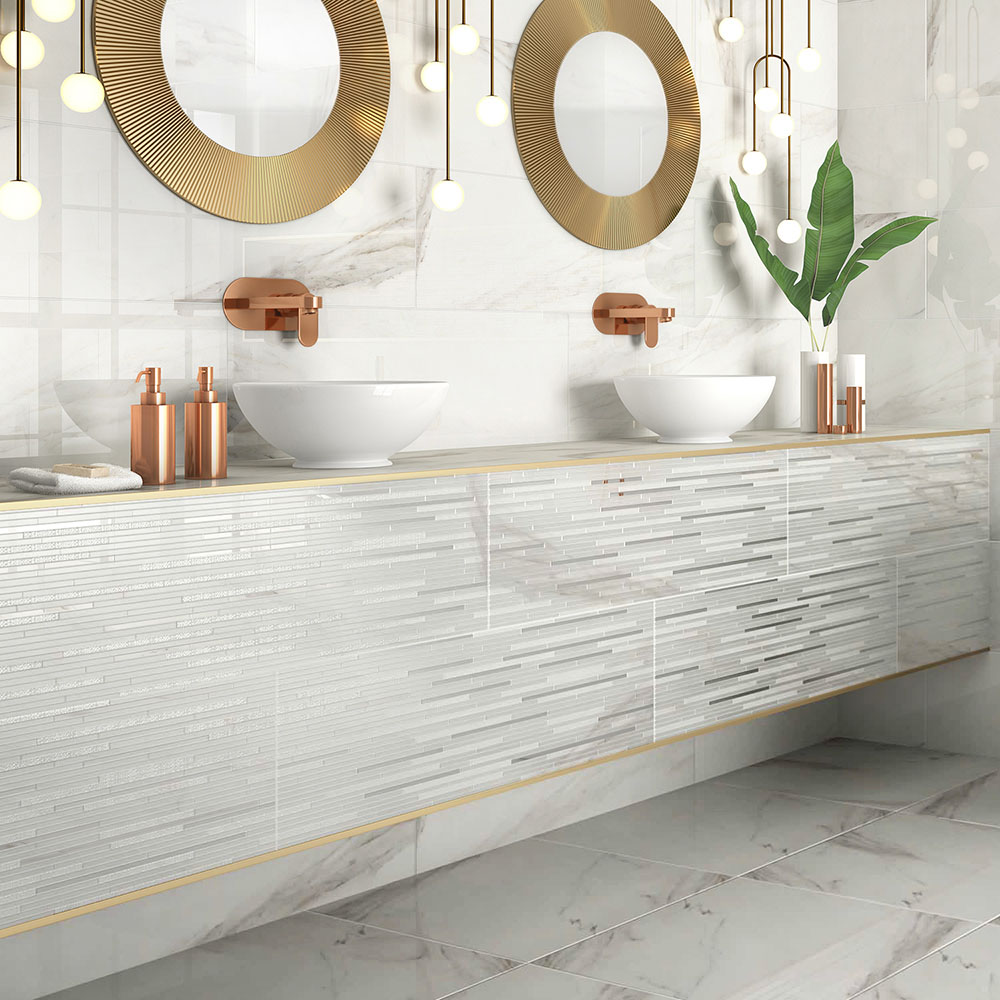 Glittered Luxury Marble Effect Wall Tiles - Julien Macdonald
