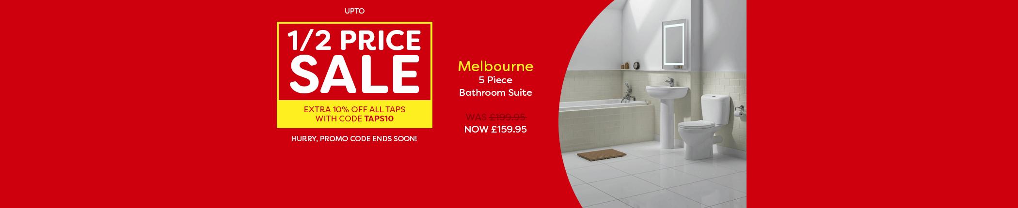 half-price-sale-extra-10-off-taps-melbourne-5-piece-bathroom-suite-countdown-apr17-hbnr