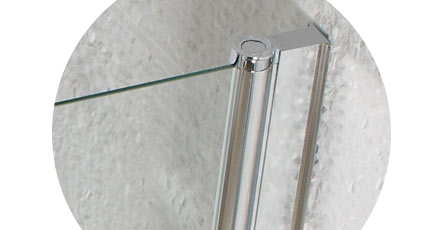 hinged bath screens