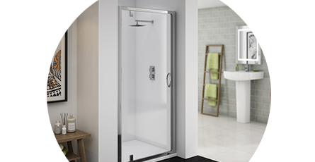 hinged pivot shower doors