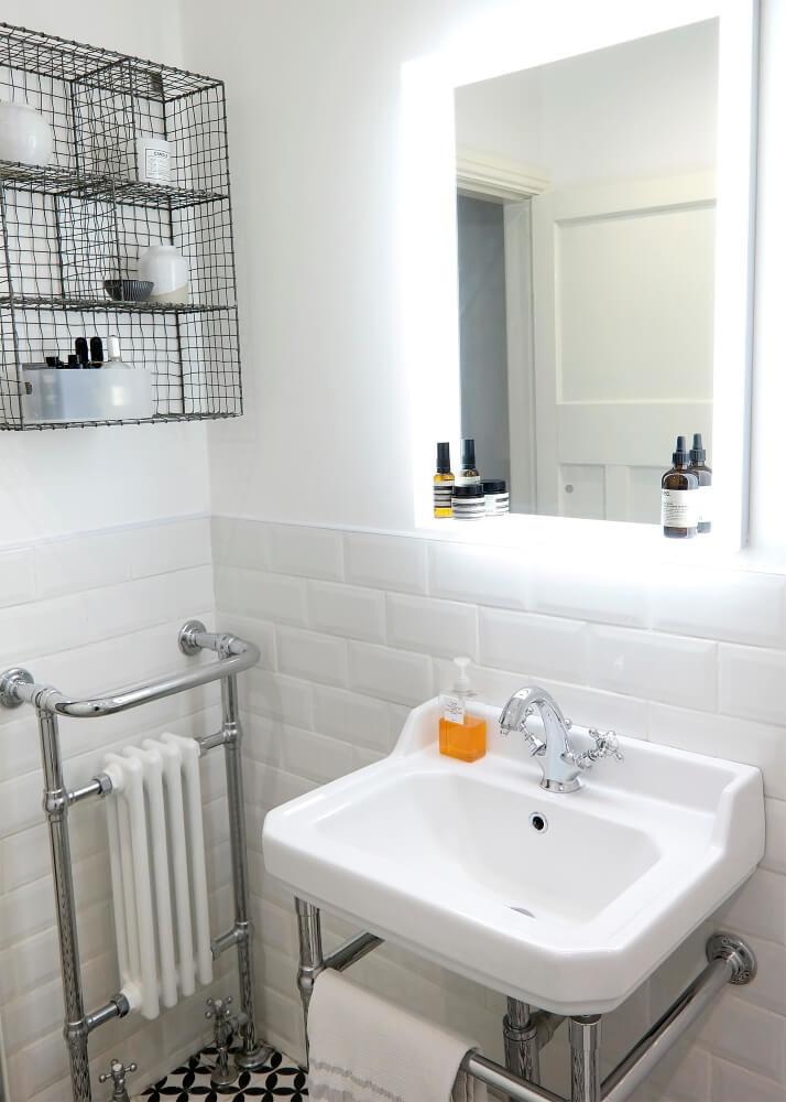 Joe's Traditional Wash Basin & Heated Towel Rail | Joe's Scandi-Style Vintage Bathroom - Birmingham