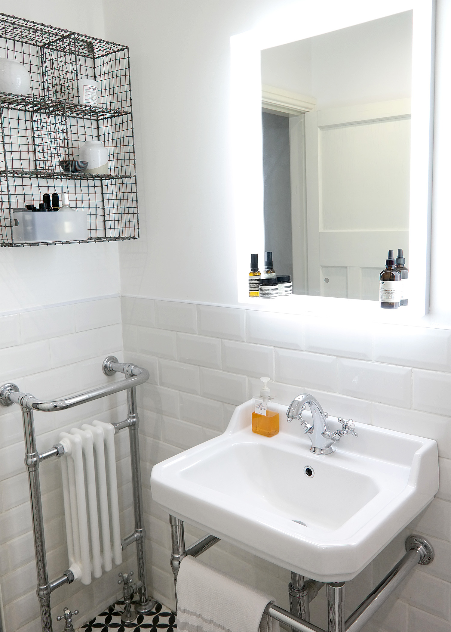 Joe's Traditional Wash Basin & Heated Towel Rail | Joe's Scandi-Style Vintage Bathroom - Birmingham