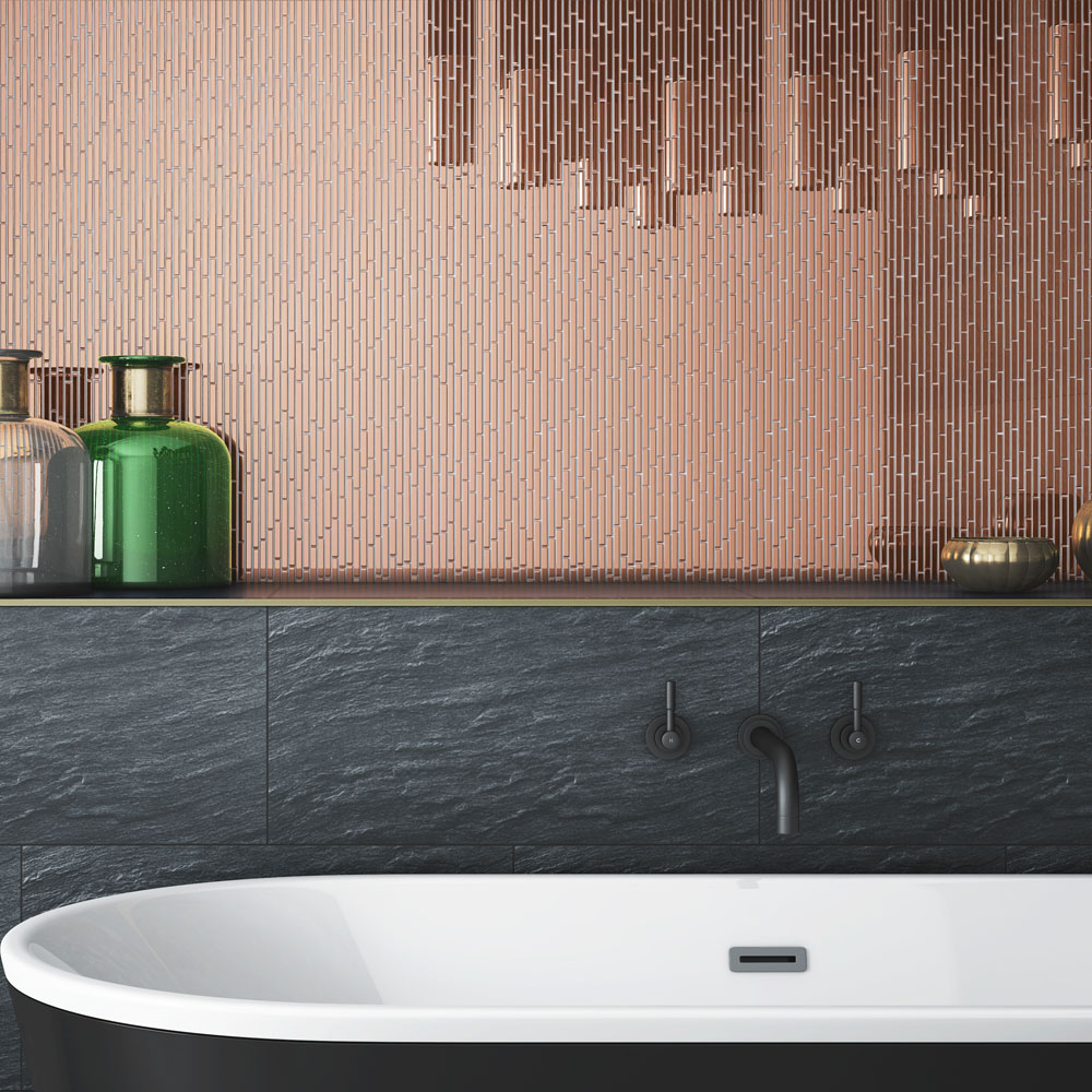 Copper Sparkle Mirror Mosaic Tiles from Julien Macdonald