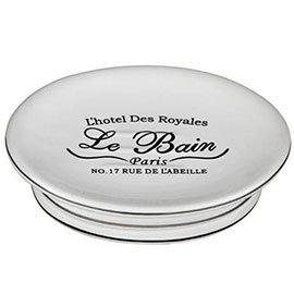 'Le Bain' White Ceramic Soap Dish - 1601338
