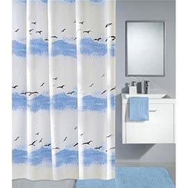 Kleine Wolke - Seaside Polyester Shower Curtain - W2400 x H1800 - Blue
