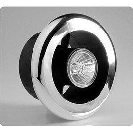 100mm Showerlite Timer Model Fan Kit with Chrome Fitting - SLKTC
