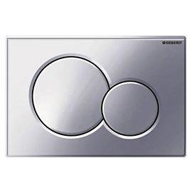 Geberit Sigma01 Matt Chrome Dual Flush Plate for UP320 Cistern - 115.770.465