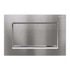 Geberit Sigma30 Single Flush Plate - Brushed Chrome - 115.893.KX.1
