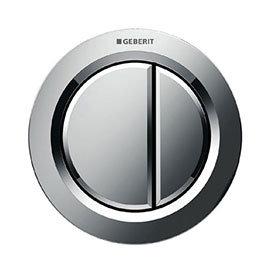 Geberit Dual Flush Pneumatic Flush Button - Gloss Chrome - 116.050.21.1