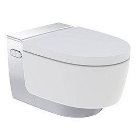 Geberit AquaClean Gloss Chrome Mera Classic Rimless Wall Hung Shower WC
