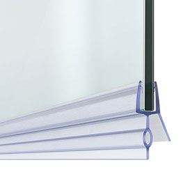 14mm Gap Bath Shower Screen Door Seal Strip - Glass 4-6mm
