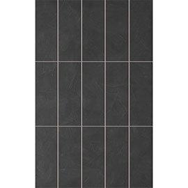 15 Taranto Matt Black Pre Cut Wall Tiles - 25 x 40cm