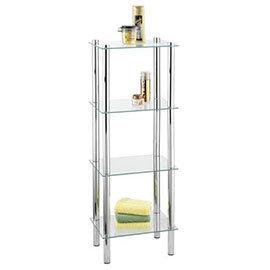 Wenko Yago Household and Bath 4 Tier Shelf - Chrome - 15853100