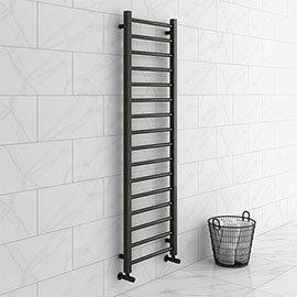Brooklyn Black Nickel 1600 x 500mm Straight Heated Towel Rail