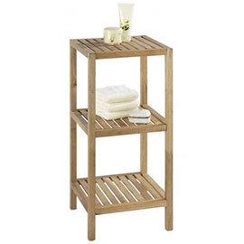 Wenko Norway 3 Tier Household & Bath Shelf - Walnut Wood - 18617100