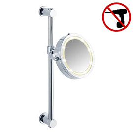 Wenko Power-Loc LED Carpi 5x Magnification Wall Mounted Mirror - 20907100