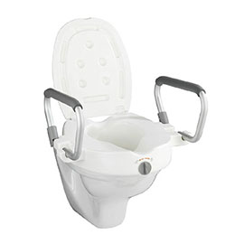 Wenko Raised Toilet Seat with Secura Support - 20924100
