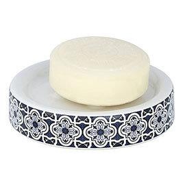 Wenko Murcia Blue Ceramic Soap Dish - 23202100