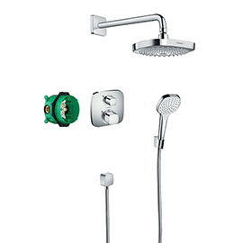 hansgrohe Croma Select E Complete Shower Set with Wall Mounted Shower Handset - 27294000