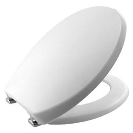 Bemis Buxton Toilet Seat with Adjustable Chrome Hinges - 2850CPT000