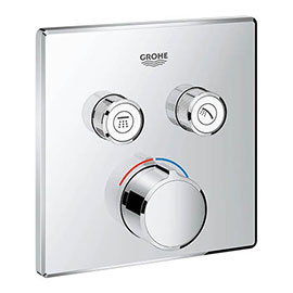 Grohe SmartControl Square 2 Outlet Concealed Mixer Trim - 29148000
