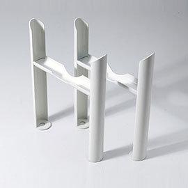 Keswick White 2 Column Radiator Feet