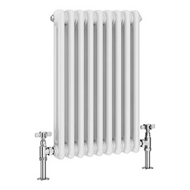 Keswick 600 x 423mm Vertical Radiator White 2 Column (9 Sections)