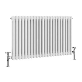 Keswick 600 x 988mm Cast Iron Style Traditional 2 Column White Radiator