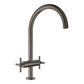 Grohe Atrio Two Handle Kitchen Sink Mixer - Brushed Hard Graphite - 30362AL0
