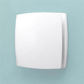 HIB Breeze Wall Mounted Bathroom Fan with Timer & Humidity Sensor - White - 31200