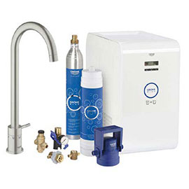 Grohe Blue Chilled & Sparkling Starter Kit with Minta Tap - SuperSteel - 31302DC1