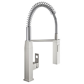Grohe Eurocube Professional Kitchen Sink Mixer - SuperSteel - 31395DC0