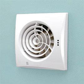 HIB Hush Wall Mounted Bathroom Fan with Timer & Humidity Sensor - White - 31600