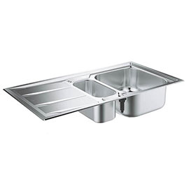 Grohe K400+ 1.5 Bowl Stainless Steel Kitchen Sink - 31569SD0