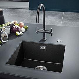 Grohe K700 1.0 Bowl Undermount Composite Quartz Kitchen Sink - Black - 31653AP0