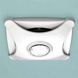 HIB Air-Star Bathroom Ceiling Fan with LED Lights - White - 31900