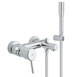 Grohe Concetto Wall Mounted Bath Shower Mixer and Kit - 32212001