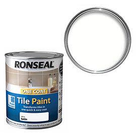 Ronseal One Coat Tile Paint 750ml - White Satin
