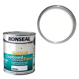 Ronseal One Coat Cupboard & Melamine Paint 750ml - White Satin