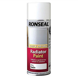 Ronseal White Satin Quick Dry Radiator Spray Paint 400ml