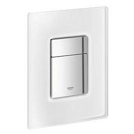 Grohe Skate Cosmopolitan WC Wall Flush Plate - Chrome/daVinci Satin - 38845MF0