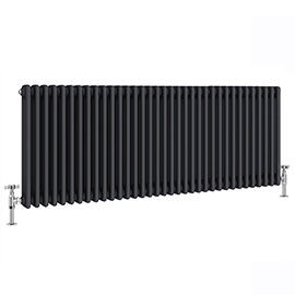 Keswick 600 x 1578mm Cast Iron Style Traditional 3 Column Anthracite Radiator