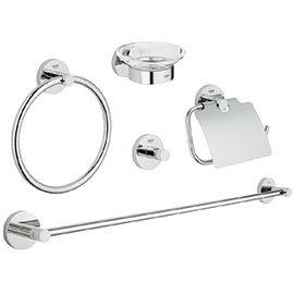 Grohe Essentials 5-in-1 Master Bathroom Accessories Set - Chrome - 40344001