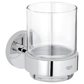 Grohe Essentials Glass Tumbler with Holder - 40447001